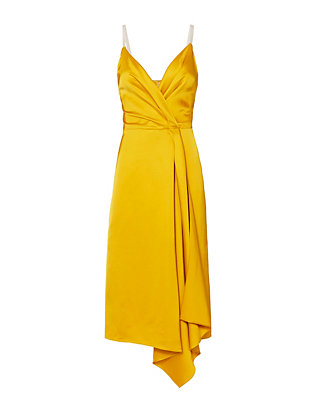 Victoria Beckham Cami Wrap Drape Dress