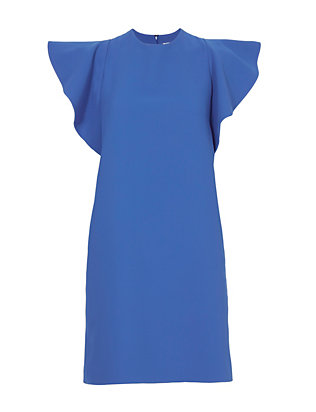Victoria, Victoria Beckham Flounce Sleeve Dress