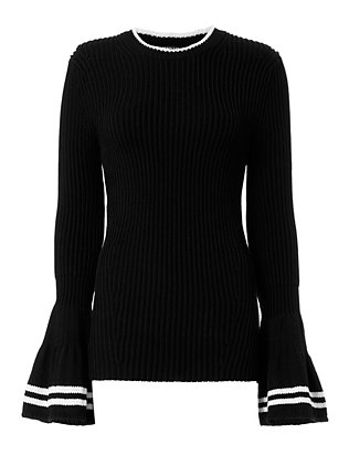 Derek Lam Bell Sleeve Sweater: Black