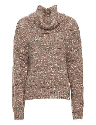 Exclusive for Intermix Flecked Yarn Turtleneck