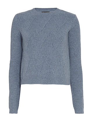 Exclusive for Intermix Ribbed Knit Mix Crop Sweater