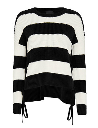 Exclusive for Intermix Side Tie Striped Knit