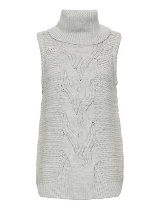 Exclusive for Intermix Turtleneck Gilet: Grey