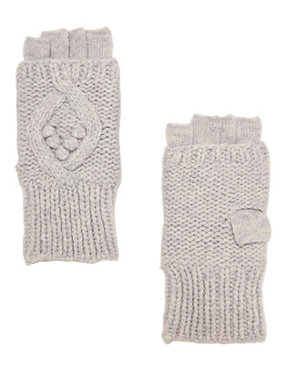 Exclusive for Intermix Popcorn/Cable Stitch Fingerless Gloves