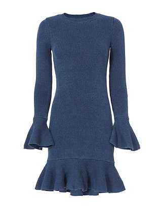 Exclusive for Intermix Ally Ruffle Knit Dress