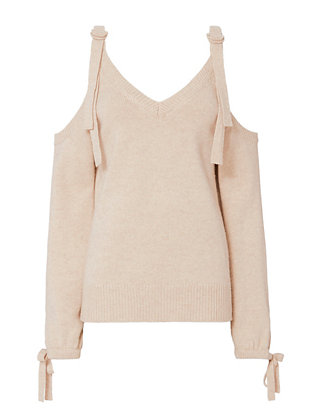 Sia Cold Shoulder Sweater