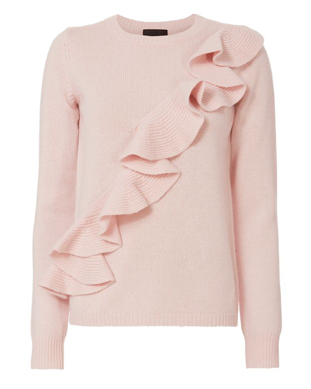 Exclusive for Intermix Susie Asymmetric Ruffle Sweater