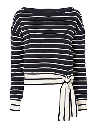 Exclusive for Intermix Gia Striped Off-The-Shoulder Sweater
