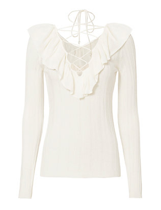 Exclusive for Intermix Mika Lace-Up Knit Top