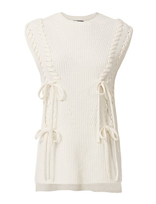 Exclusive for Intermix Lynn Lace-Up Gillet
