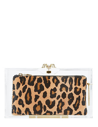 Charlotte Olympia Pandora Clear Clutch
