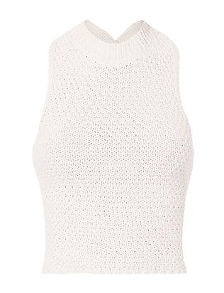 Crochet  Lace-Up Back Tank