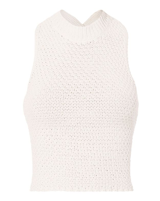3.1 Phillip Lim Crochet  Lace-Up Back Tank