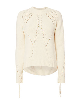 3.1 Phillip Lim Tie Sleeve Pointelle Knit