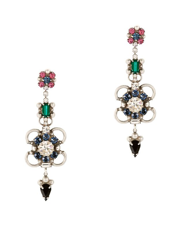 Dannijo Ellyn Crystal Drop Earrings