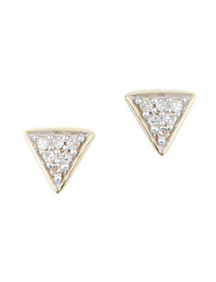 Adina Reyter Super Tiny Pavé Diamond Triangle Earrings
