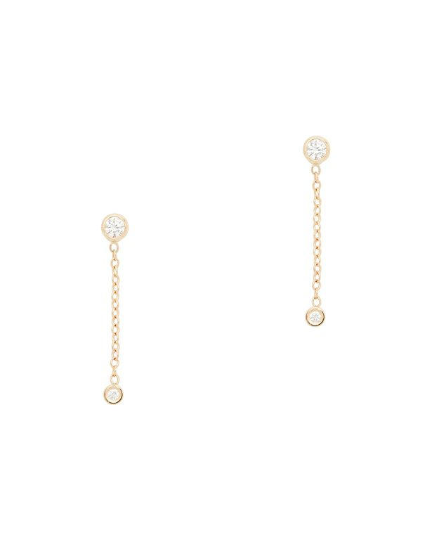 Ariel Gordon Diamond Chain Earrings