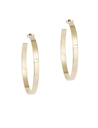 Paige Novick Large Flat Hoop Earrings