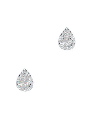 Adina Reyter Pavé Diamond Teardrop Post Back Earrings