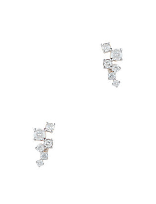 Adina Reyter Scattered Diamond Post Back Earrings