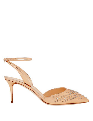Giuseppe Zanotti Lucrezia Spiked Detail Metallic Leather Pump