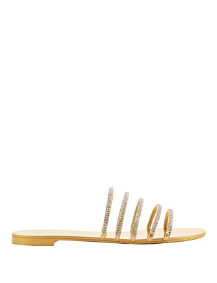 Giuseppe Zanotti Strappy Crystal-Embellished Slide Sandals