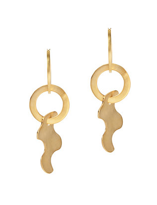 Paige Novick Puzzle Drop Hoop Earrings