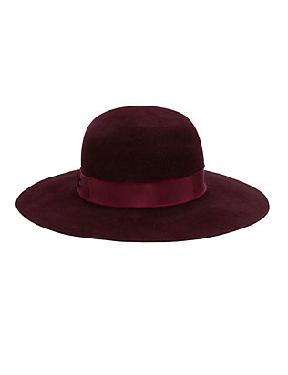 Velour Round Crown Hat