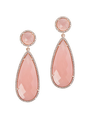 Susan Hanover Pink Quartz Drop Earrings