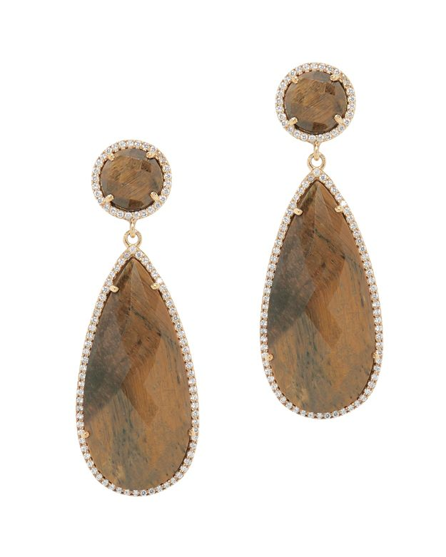 Susan Hanover Tigers Eye Drop Earrings