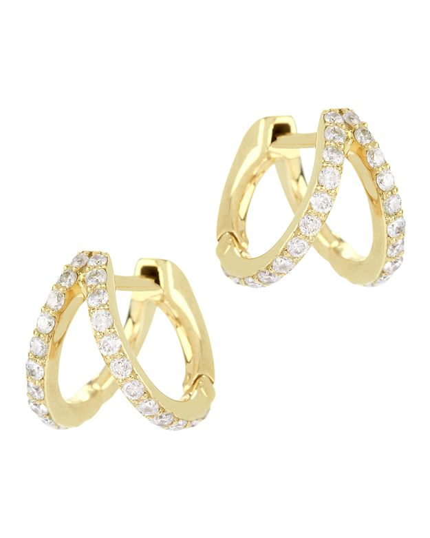 Carbon & Hyde Gold Split Huggie Hoop Earrings