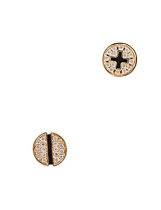 Pavé Diamond Screw Stud Earrings