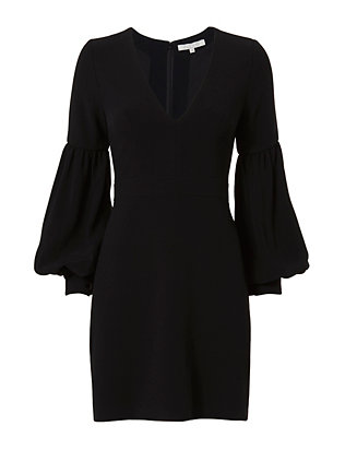 Alexis Ellena Blouson Sleeve Dress: Black
