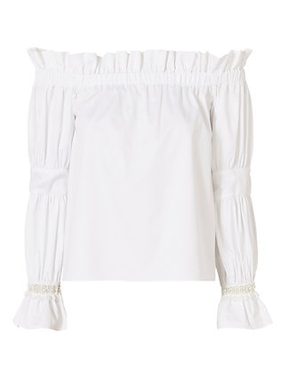 Alexis Ellen Off The Shoulder Top: White