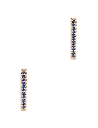 Pavé Sapphire Bar Earrings