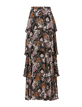A.L.C. EXCLUSIVE Bianchini Tiered Maxi Skirt