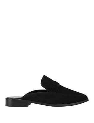 Newbark EXCLUSIVE Suede Slide Loafer: Black