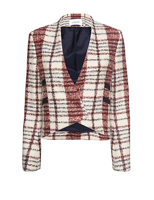 Derek Lam 10 Crosby EXCLUSIVE Cropped Plaid Jacket