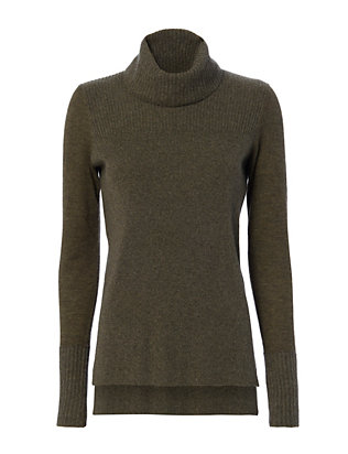 Ribbed Turtleneck: Army