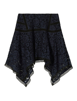 Veronica Beard Aura Asymmetric Lace Skirt
