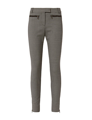 Veronica Beard Zip Skinny Pants