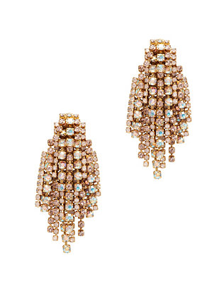 Crystal Fringe Waterfall Earrings
