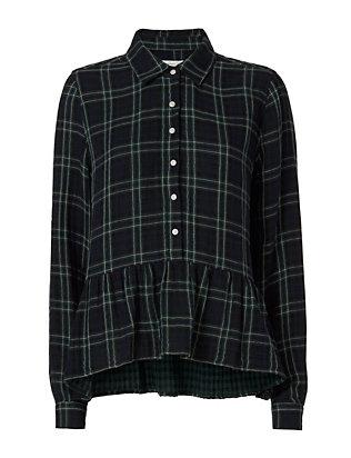Plaid Peplum Shirt