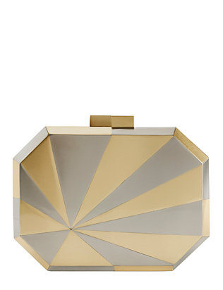 Nathalie Trad James Stainless Steel and Brass Clutch