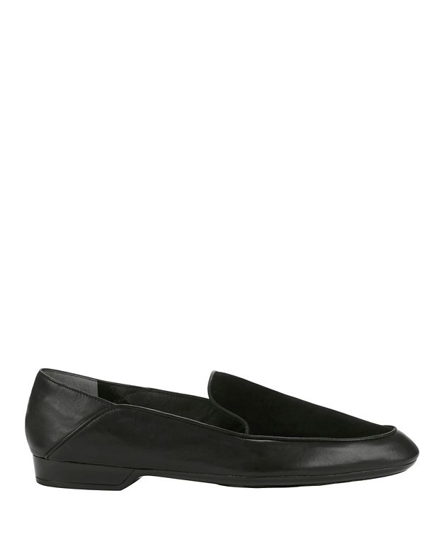 Robert Clergerie Fani Leather/Suede Loafers: Black