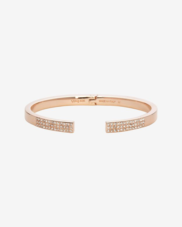 Vita Fede Pave Crystal Open Ended Bracelet