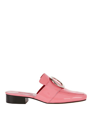 Dorateymur Petrol Pink Patent Slide Loafers