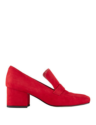 Turbojet Red Suede Loafers
