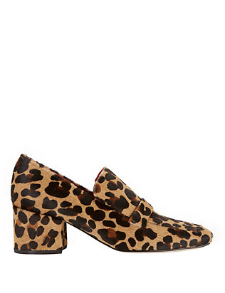 Turbojet Leopard Print Haircalf Loafers