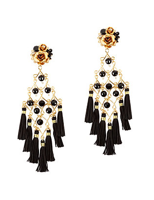 Mercedes Salazar EXCLUSIVE Fiesta Earrings: Black